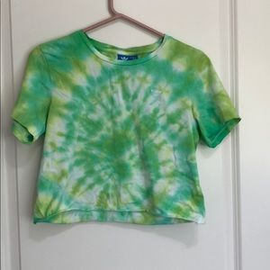 Tie dyed Adidas crop top!